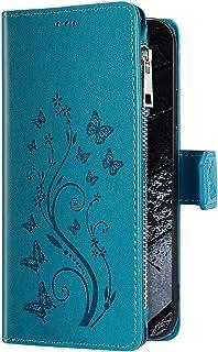 Uposao Telefoonhoesje voor Samsung Galaxy A51, met vakjes voor creditcards, leren hoesje, klaphoesje met magneetsluiting, ...