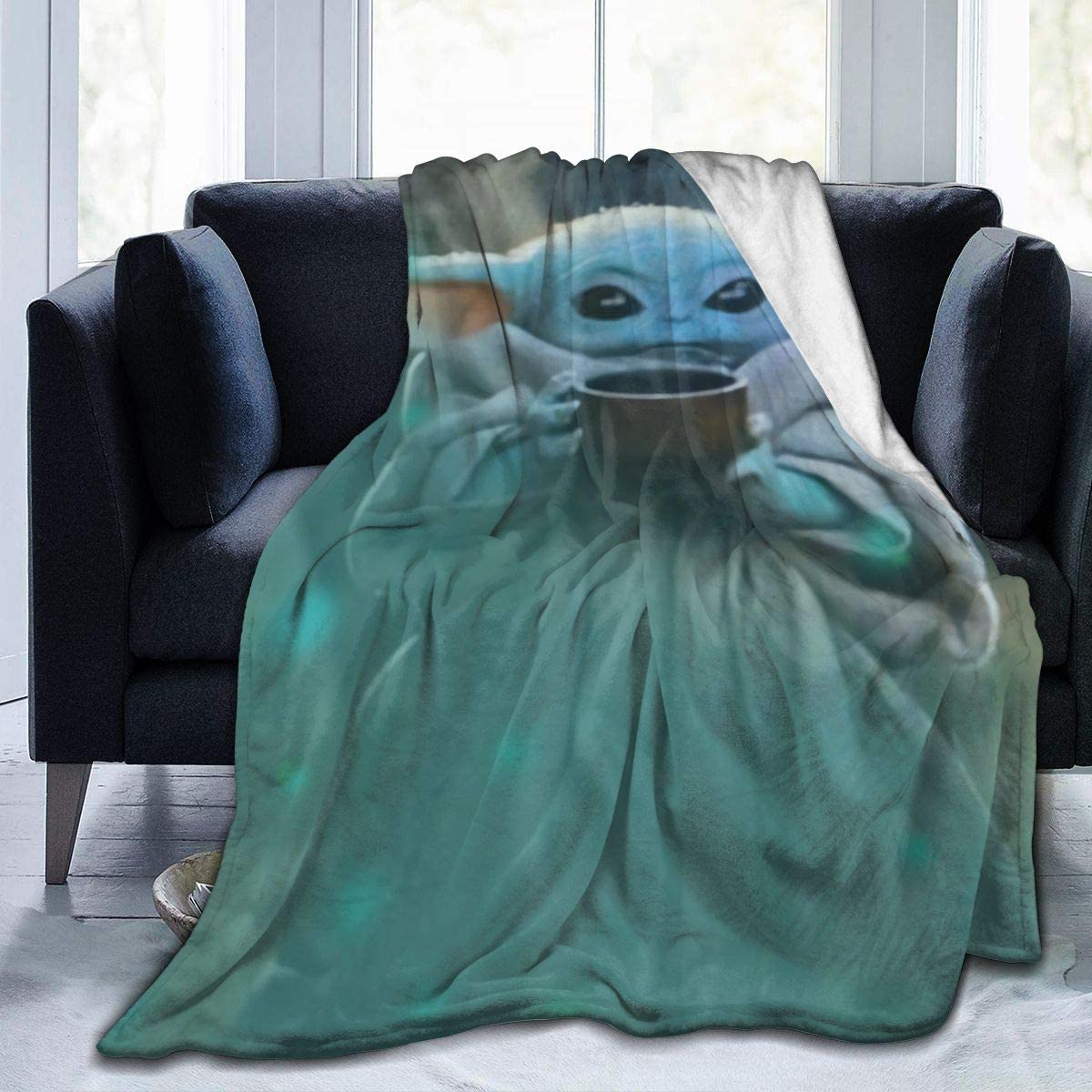 VHOPE Direct sale of manufacturer Blanket Lightweight Regular discount 3D Anti-Ball Printing Polyester Throw