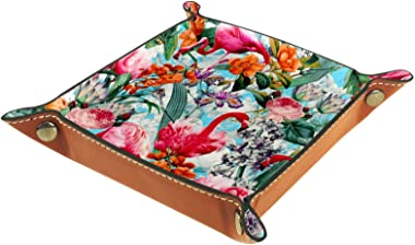 Yitian Leather Tray PU Leather Jewelry Catchall フラミンゴ Multi Beautiful