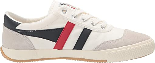 Off-White/Navy/Red