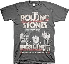 Rolling Stones Men's Berlin Tour of Europe '76 T-Shirt