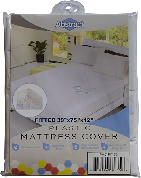 Abstract Vinyl Mattress Protector Corner Fitted Style Cover Best To Protect Your Bed From Spills Accidents And Damage 100 Waterproof Plastic In Twin And Cot Size White 39 X 75