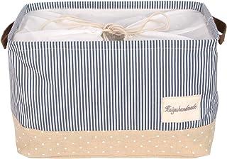 DOKEHOM 17-inches Grand Organiser Paniers pour Vêtements Stockage (15 et 17 inches), Paniers à Linge, Pliable Sac à Linge,...