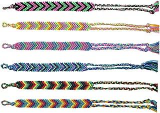 Friendship Bracelets for Women Girls and Boys, Handmade Woven Friendship Bracelet Bulk Set. Cool & Cute Stackable True V-Design Bracelets