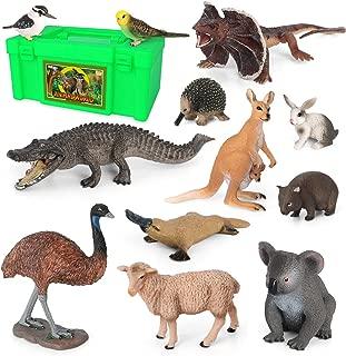 Volnau Animal Toys Figurines 12PCS Australia Animal Figures Zoo Pack for Kids Preschool Educational Kangaroo Koala Bear The Land Down Under Animals Sets, BPA Free
