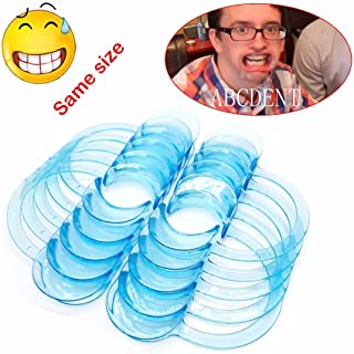 DRILLPRO 20pcs Dental C-Shape BlueTeeth Whitening Intraoral Cheek Lip Retractor Mouth Opener O-shape Type for Home Dentistry Size M,Clear