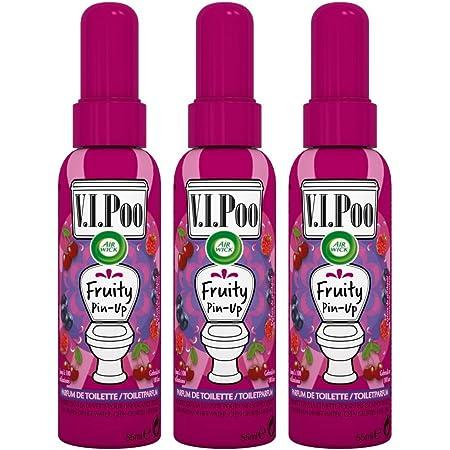 Air Wick Desodorisant WC Spray V.I.Poo Anti Odeur Parfum Fruity Pin Up 55 ml - Lot de 3