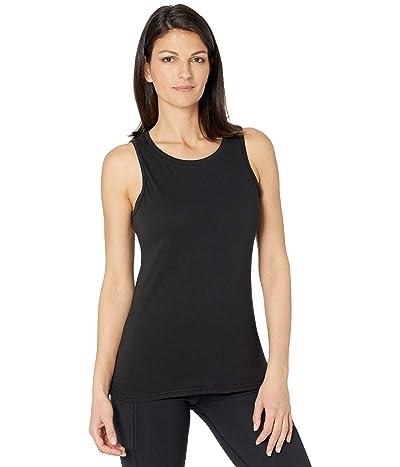 PACT Mid-Weight Organic Cotton High Neck Tank (Black) Women