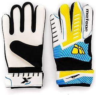 meteor Guantes Portero Goalkeeper Gloves Guentes de Portero Niño Entrenamiento Futbol Equipacion fútbol niños - Guantes de Portero niños - protección para los Dedos X3
