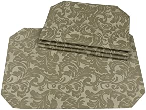 Xia Home Fashions Elegant Leaf Placemat, 14 by 20-Inch, Set of 4