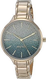 ساعة ناين ويست للنساء بسوار من الجلد