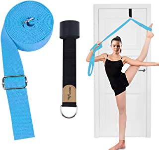 Vivitory Adjustable Leg Stretcher Lengthen Ballet Stretch Band - Door Flexibility Trainer with Carrying Pouch for Cheer, B...