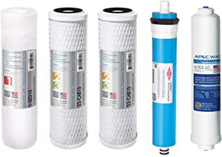 """APEC Water Systems FILTER-MAX90 US Made 90 GPD Complete Replacement Set for Ultimate Series Reverse Osmosis Water Filter (Standard 1/4"""" Output System)"""