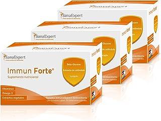 PACK 3   SanaExpert Immun Forte   VITAMINE PER RAFFORZARE IL SISTEMA IMMUNITARIO   con omega-3, beta-glucano, estratto di ...
