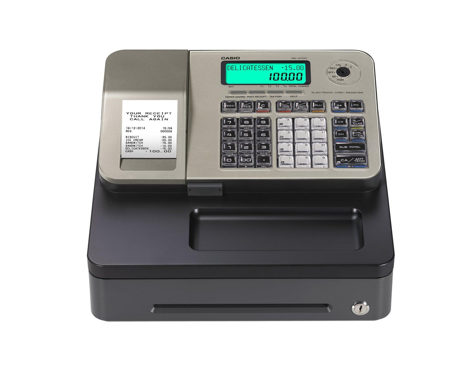 Caja registradora Casio SE-S100 (GOLD): Amazon.es: Oficina y papelería