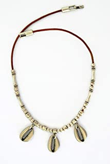 Gargantilla concha cowrie plata para mujer, regalo original