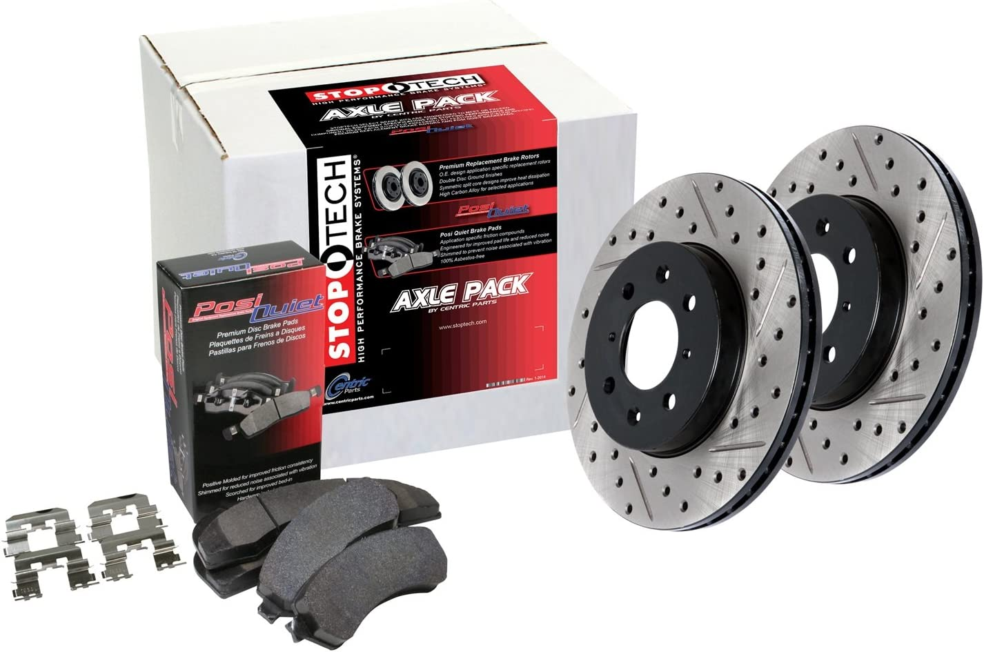 Limited price StopTech 938.47506 Street Axle Pack store Slotted Rear Bra and Drilled