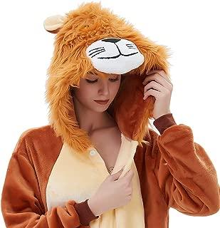 ABENCA Women Lion Onesie Pajama Costume Adult Animal Halloween Christmas Cosplay Onepiece