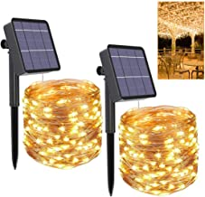 Gluckluz Solar String Lights Copper Wire Fairy Lighting Starry Warm Waterproof Decoration Lamp for Outdoor Indoor Garden H...