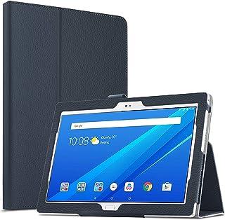 Lenovo Tab E10 10.1 inch TB-X104F Case Premium Business Leather Slim Folding Stand Flip PU Cover (Dark Blue)