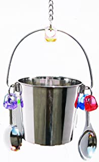 1054 Big Fun Bucket Bird Toy Parrot cage Stainless Steel Toys Cages African Grey. Quality Product Hand Made in The USA.