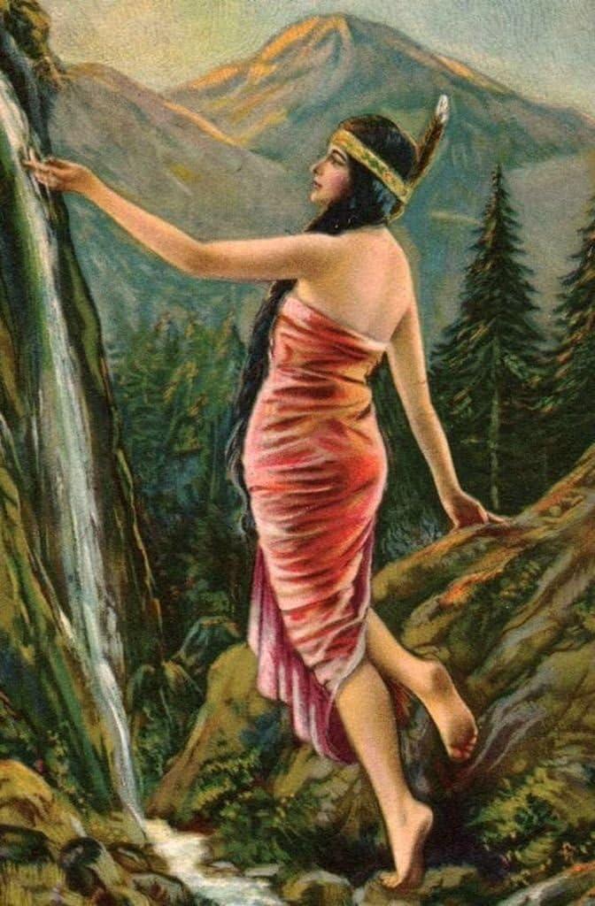 Incredible Affordable Art Indian Maiden Godda Free shipping New Colorado Springs Mall at : Waterfall L.