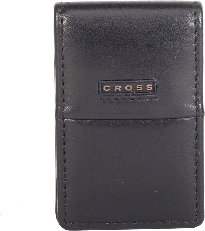 Cross CR Men's Money Clip -Black & Inside -Taupe (AC048073-5)