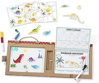 Melissa & Doug 41321 Återanvändbart rit- och magnetkit – dinosaurier
