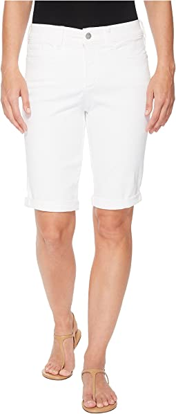Briella Roll Cuff Shorts in Optic White