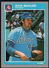 Baseball MLB 1985 Fleer #332 Rick Mahler Braves