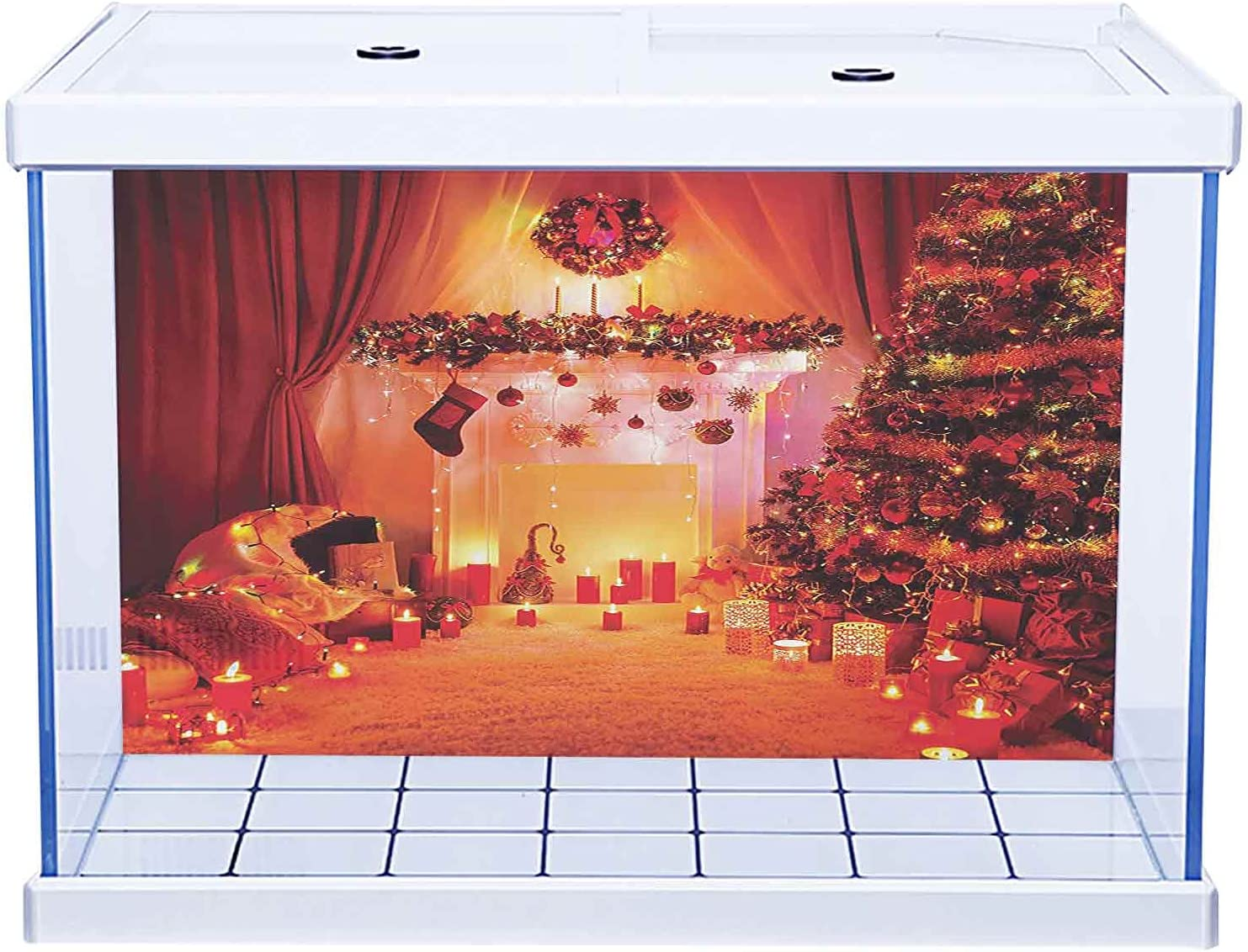 Aquarium Sticker 3D One Side Fish Max 81% OFF New Special price in Year Tank Christmas The