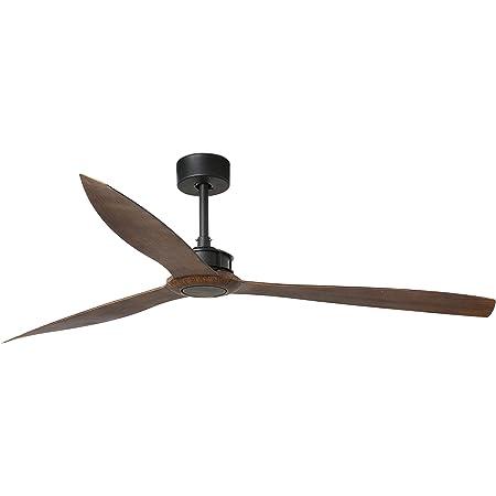 Faro Barcelona 33430 - Just Fan Ventilateur de Plafond Noir Mat/Bois 178cm