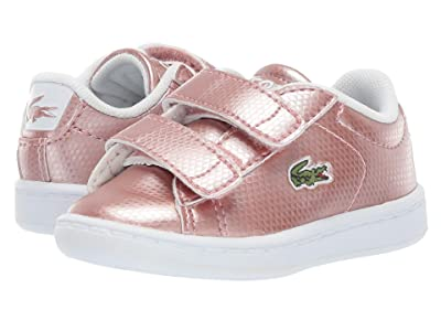 Lacoste Kids Carnaby Evo 119 6 SUI (Toddler/Little Kid) (Pink/White) Girl
