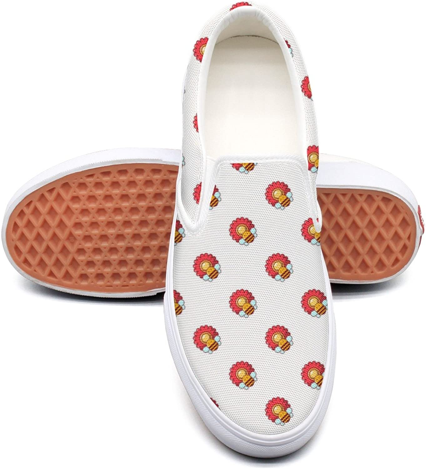 Hjkggd fgfds Casual Bee On A Flower Young Women Canvas shoes