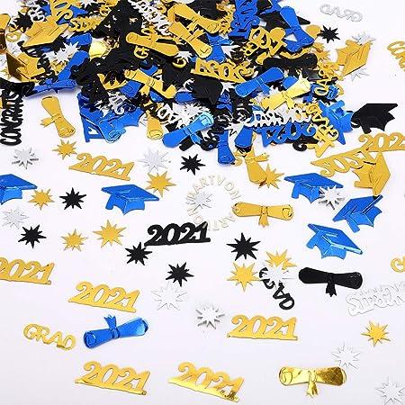 GRADUATION CAPS party TABLE CONFETTI DECORATIONS 1 pack  school colors GOLD