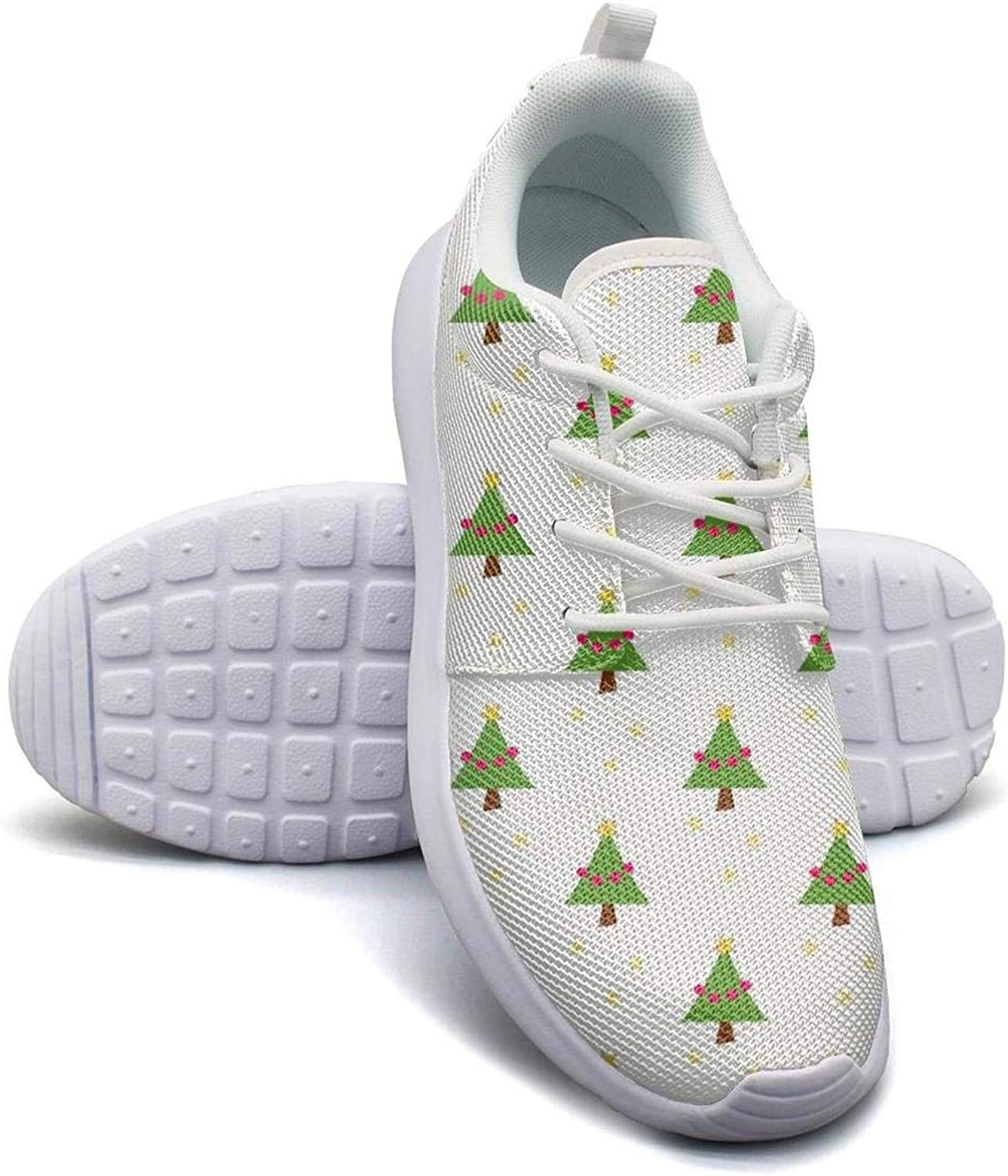 Gjsonmv Christmas Tree Pattern mesh Lightweight shoes for Women Fashion Sports Basketball Sneakers shoes