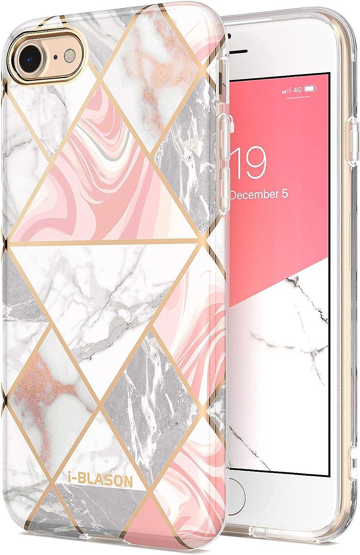 i-Blason Cosmo Lite Series Designed for iPhone SE 2020 Case/iPhone 7 Case/iPhone 8 Case, Slim Stylish Protective Bumper Case for iPhone SE (2020)/ iPhone 8/ iPhone 7 (Marble)