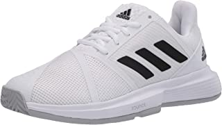 adidas Women's Courtjam Bounce W Wide Sneaker, FTWR White/core Black/Matte Silver