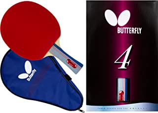 Butterfly 401 Table Tennis Racket Set - 1 Ping Pong Paddle – 1 Ping Pong Paddle Case - ITTF Approved Table Tennis Paddle -...