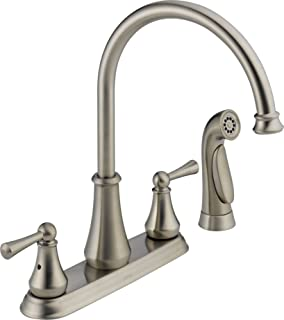 Delta 21902LF-SS Lewiston Two Handle Kitchen Faucet with Spray, Stainless