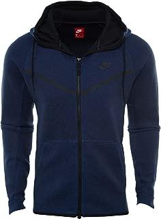Mens Sportswear Tech Fleece Windrunner Hooded Sweatshirt (2X-Large, Obsidian Blue/Black)