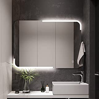 STARLEAD Espejo de baño con iluminación Bluetooth para montaje en pared de 32 x 24 pulgadas, antivaho con luz LED, IP44 re...