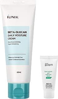 iUNIK Beta Glucan Daily Moisture Cream (60ml) with MAKEP:REM Cleansing Foam Mini (20ml)