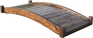 SamsGazebos Zen Japanese Style Wood Garden Bridges, 6', Brown