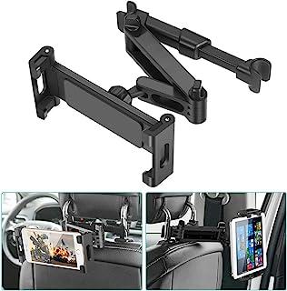 """Car Headrest Mount, SAWAKE Angle Adjustable Headrest Tablet Mount, Universal Tablet Holder for Car Backseat, for 5"""" to 14""""..."""