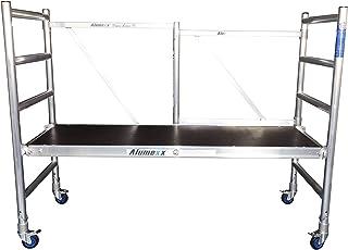 comprar comparacion Andamio Plegable Profesional de Aluminio Basic-X 3 Metros Altura, Fácil de Transportar, para Interiores y Exteriores, Anda...