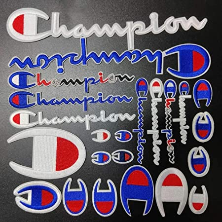 Decorating clothes Champions Set 9pcs per Pack Logo Patches for Iron on and sewing