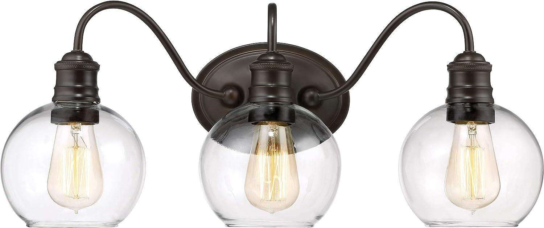 Quoizel Soho Regular dealer 3-Light 9.5-in Bronze Light NEW before selling Vanity Globe