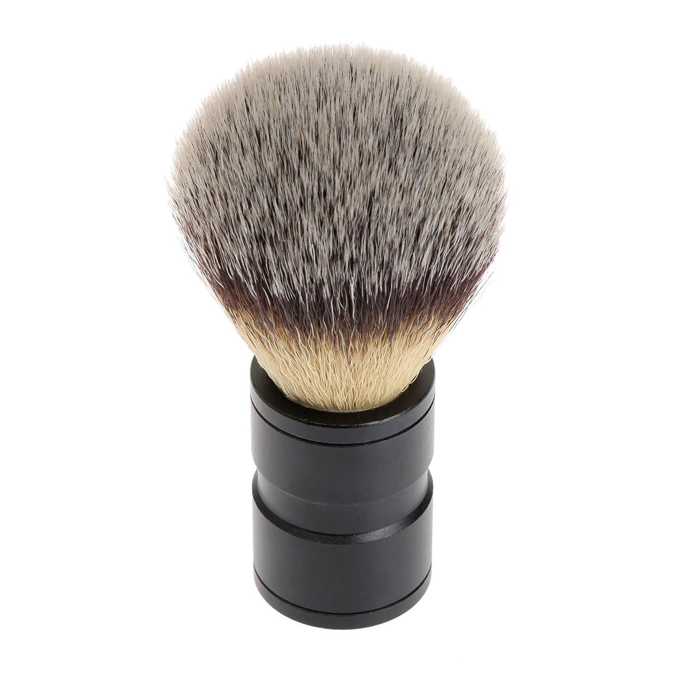 シニス漫画複製するシェービング ブラシ 理容 洗顔 髭剃り マッサージ 効果 ナイロン毛 メンズ