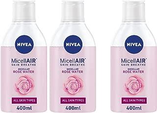 NIVEA, Face Wash, MicellAIR, Micellar Rose Water, 3 x 400ml